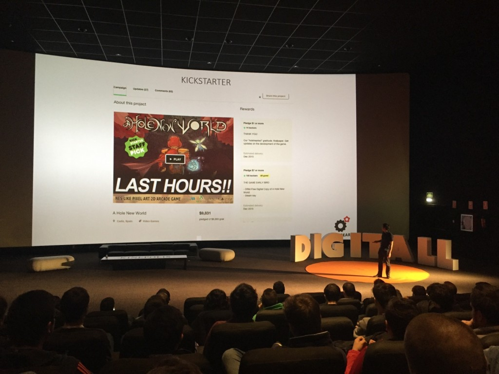 Giving a talk at DigitAll